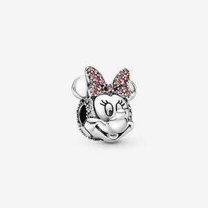 📿Disney Minnie Mouse Pink Pavé Bow Clip Charm